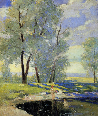 Konstantin Fedorovich Yuon. Sun bathing