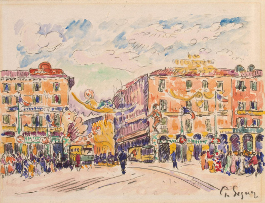 Paul Signac. Town square