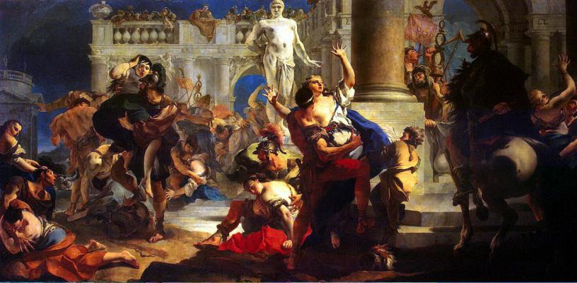 Джованни Баттиста Тьеполо. Abduction of the Sabines