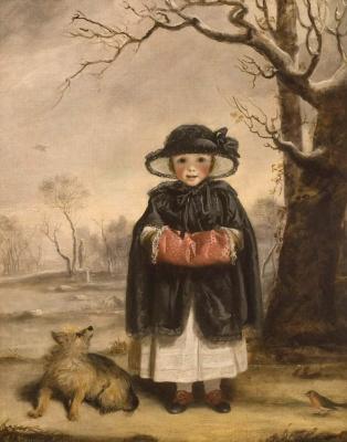 "Joshua Reynolds. Lady Caroline Scott as ""Winter"""