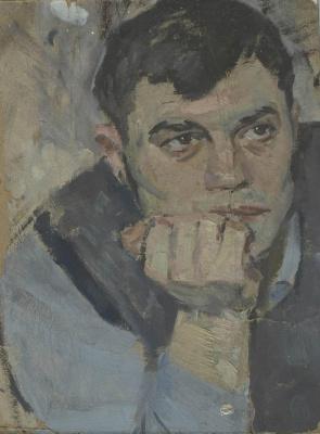 Евгений Иванович Бригадиров. Этюд мужской головы