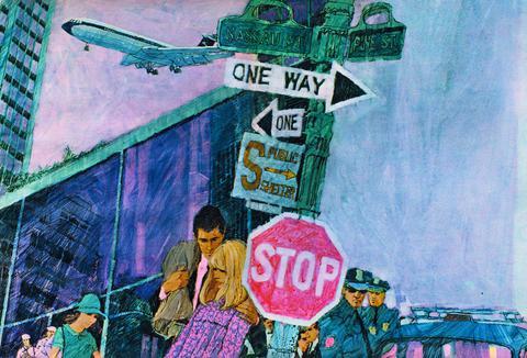 Brian Sanders. New York Street Scene