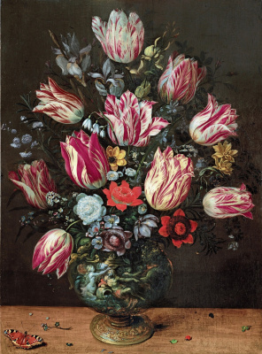 Frans Franken the Younger. Vase with Flowers. (with Andries Daniels) 1620-1625
