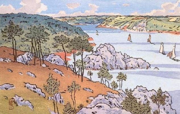 Анри (Henri) Ривьер (Rivière). Устье Триё (L\'embouchure du Trieux)