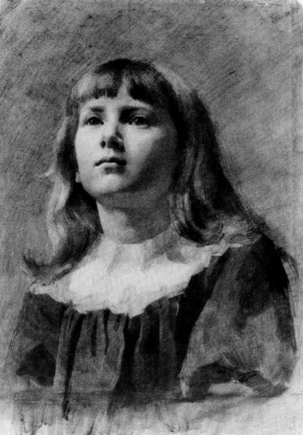 Laura Knight. Portrait of a girl