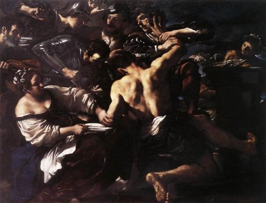 Джованни Франческо Гверчино. Самсон захвачен филистимлянами