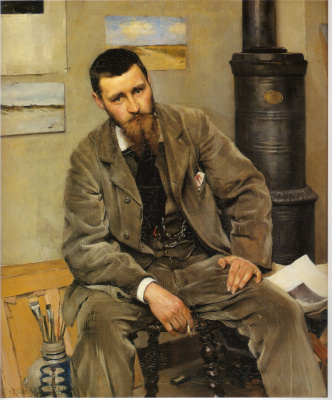 Sven Richard Berg. Portrait of the artist Niels Krueger