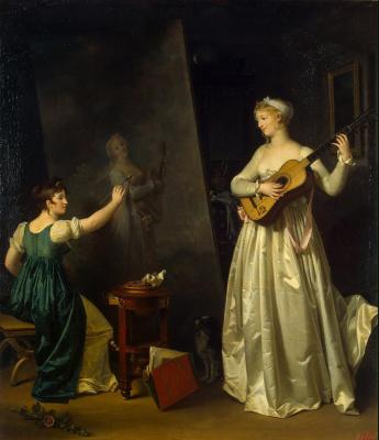 Маргарита Жерар. Художница пишет портрет