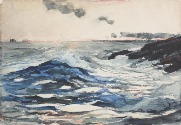 Winslow Homer. Sunset. Peninsula Prouts Neck