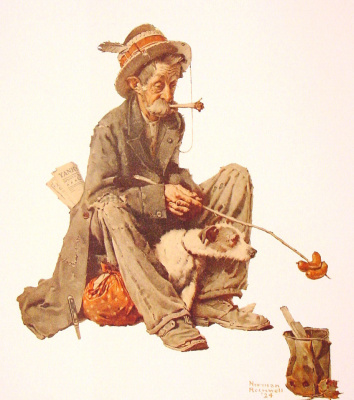 Норман Роквелл. Бродяга и собака