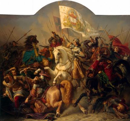 Herman Anton Shtilke. Joan of Arc in battle
