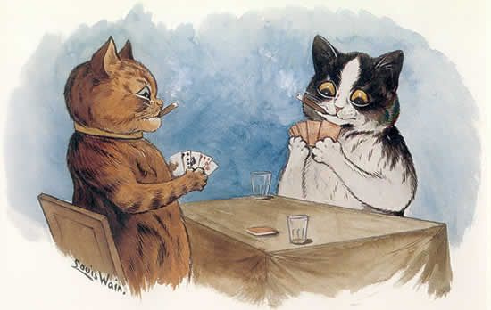 Louis Wain. Cat poker