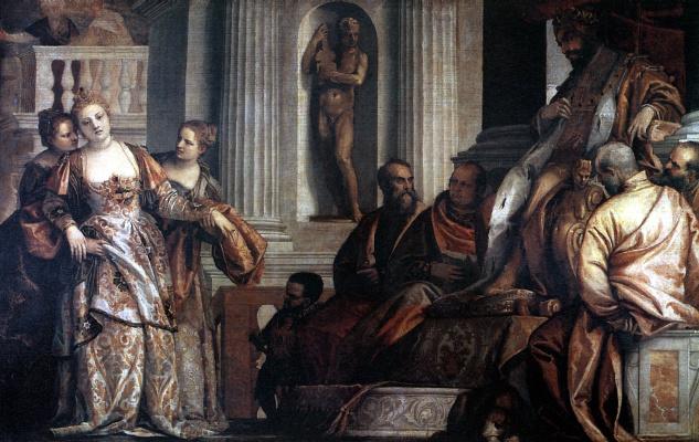 Paolo Veronese. Fainting. Esther before Artaxerxes