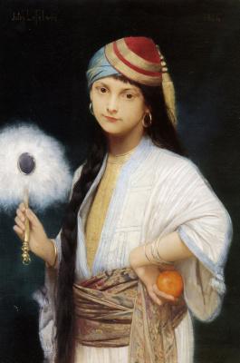 Jules Joseph Lefebvre. Fan of feathers. 1884