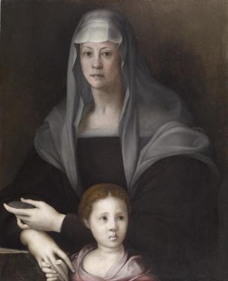 Jacopo Pontormo. Portrait of Maria Salviati with Julia Medici