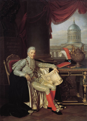 Alexander Grigorievich Varnek. Portrait of the Actual Privy Counselor of the President of the Academy of Arts, Count A.Stroganov. State Russian Museum, St. Petersburg