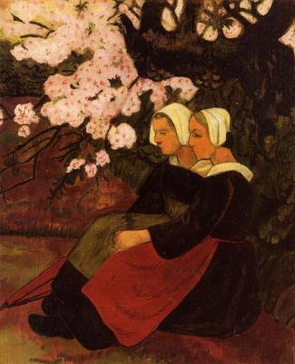 Поль Серюзье. Две бретонки под цветущей яблоней