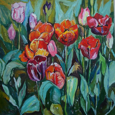 Александра Сырбу. Тюльпаны
