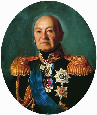 Sergey Konstantinovich Zaryanka. Portrait of Adjutant-General Count Arseny Andreyevich Zakrevsky