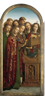 Jan van Eyck. The Ghent altarpiece. Angels (fragment)