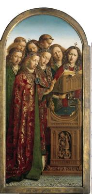 Jan van Eyck. The Ghent altarpiece. Angels (fragment)