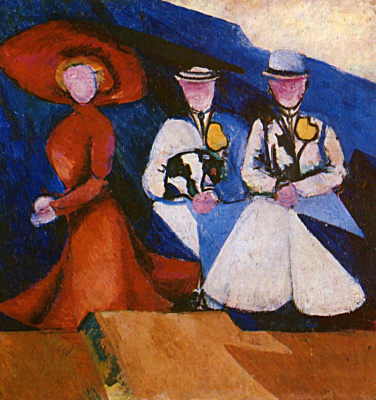 Alexandra Exter. Three female figures
