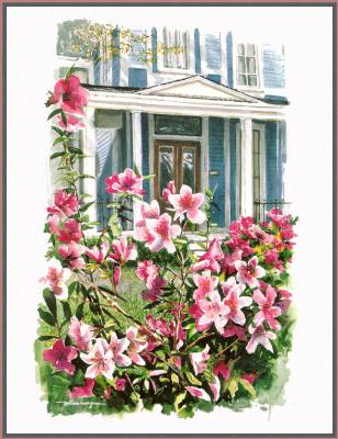 Уильям Мангам. Цветы у окна