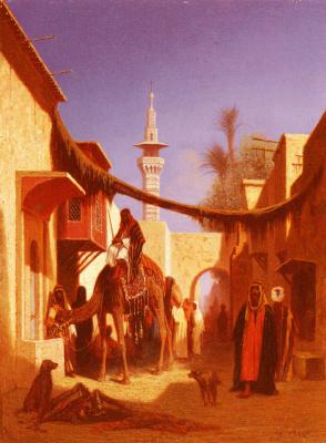 Karl Theodor Frer. Street in Damascus