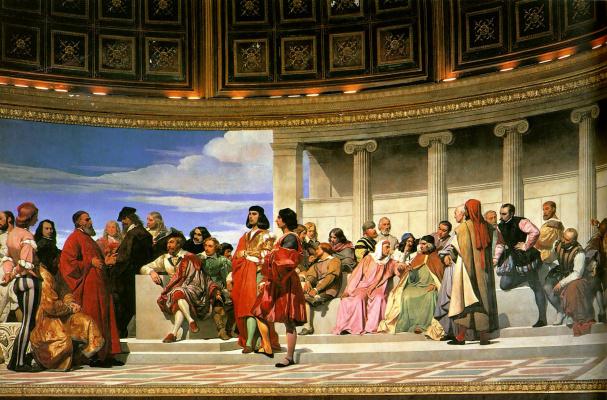 Paul Delaroche. The semicircle of the school of fine arts