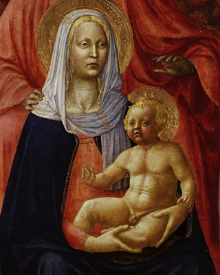 Mary with the Baby and St. Anne. Fragment