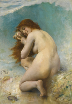 Leon Basile Perrot France 1832-1908. Water nymph. 1898