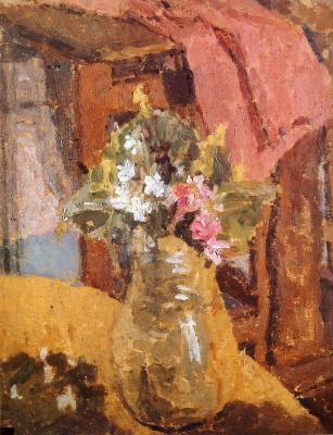 Гвен Джон. Ваза с цветами