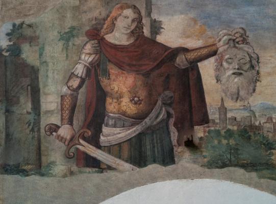 Giorgione. David and Goliath