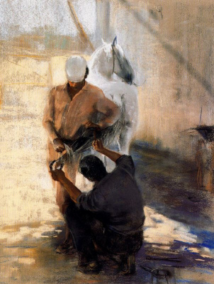 Каэтано де Аркер Буигас. Белый конь