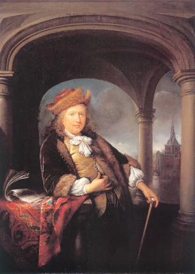 Gerrit (Gerard) Dow. Self portrait at the age of 50 years