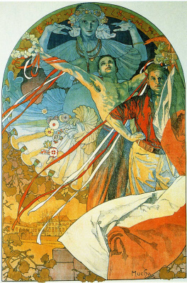 Alphonse Mucha. Promotional poster for the Eighth festival Sokol in Prague in 1926