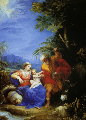 Cesari Giuseppe (Cavalier d'Arpino). Rest on the flight into Egypt. 1597 approx.