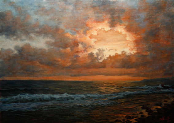 Valery Levchenko. No. 173 Sunset at sea