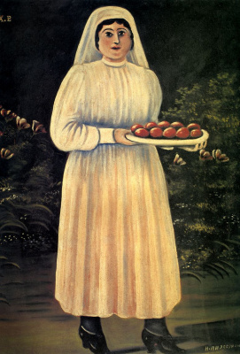 Niko Pirosmani (Pirosmanashvili). Woman with Easter eggs