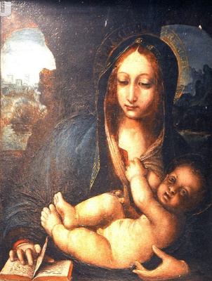 Unknown artist. Madonna of the book