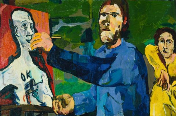 Oskar Kokoschka. The artist and the model