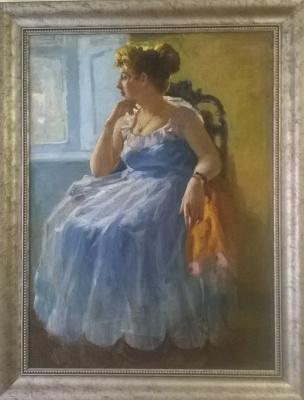 Valentina Petrovna Tsvetkova. Self-portrait