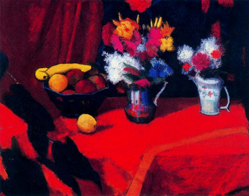 Warren Brandt. Still life with fruit and flowers
