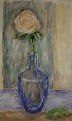 Zina Vladimirovna Parisva. Still life with rose