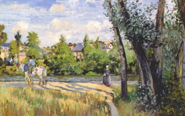 Эдвард Кертис. Пейзаж в ярком солнечном свете в Понтуазе