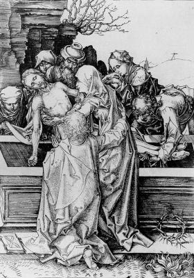 Martin Schongauer. Mourning