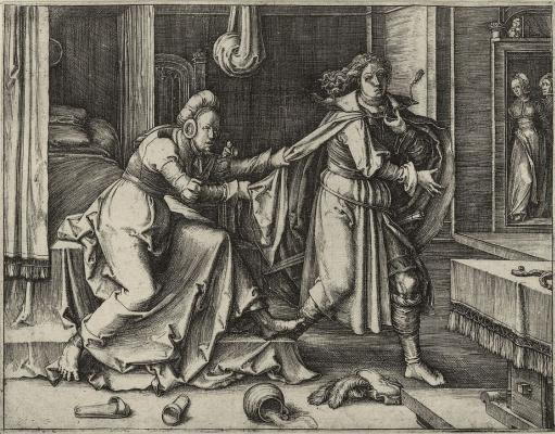 Лукас ван Лейден (Лука Лейденский). Иосиф и жена Потифара