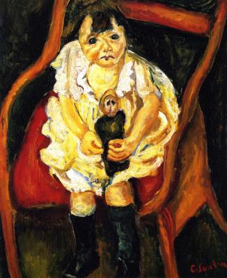 Хаим Соломонович Сутин. Маленькая девочка с куклой