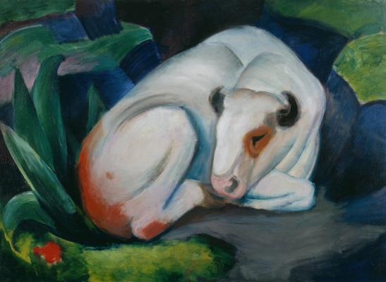 Franz Marc. White bull