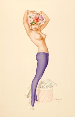 Альберто Варгас. Дорогой, твое мнение о моей шляпе.  1963